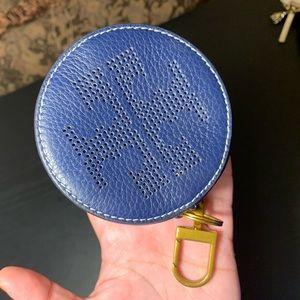 Navy blue Tory Burch key chain coin purse